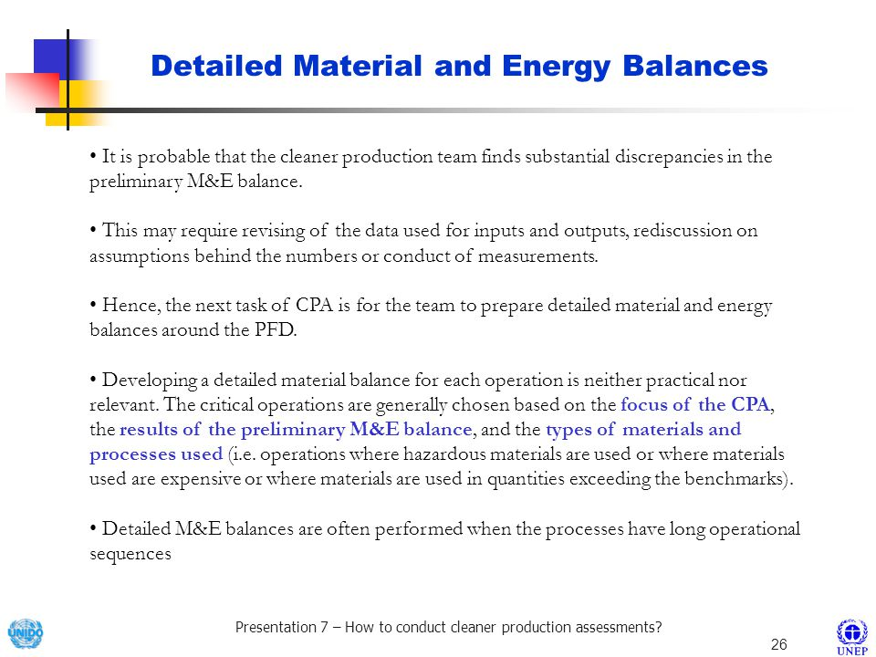 Detailed Material and Energy Balances