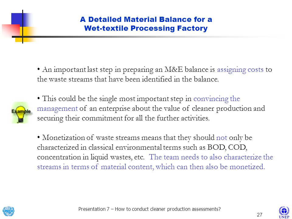 A Detailed Material Balance for a Wet-textile Processing Factory