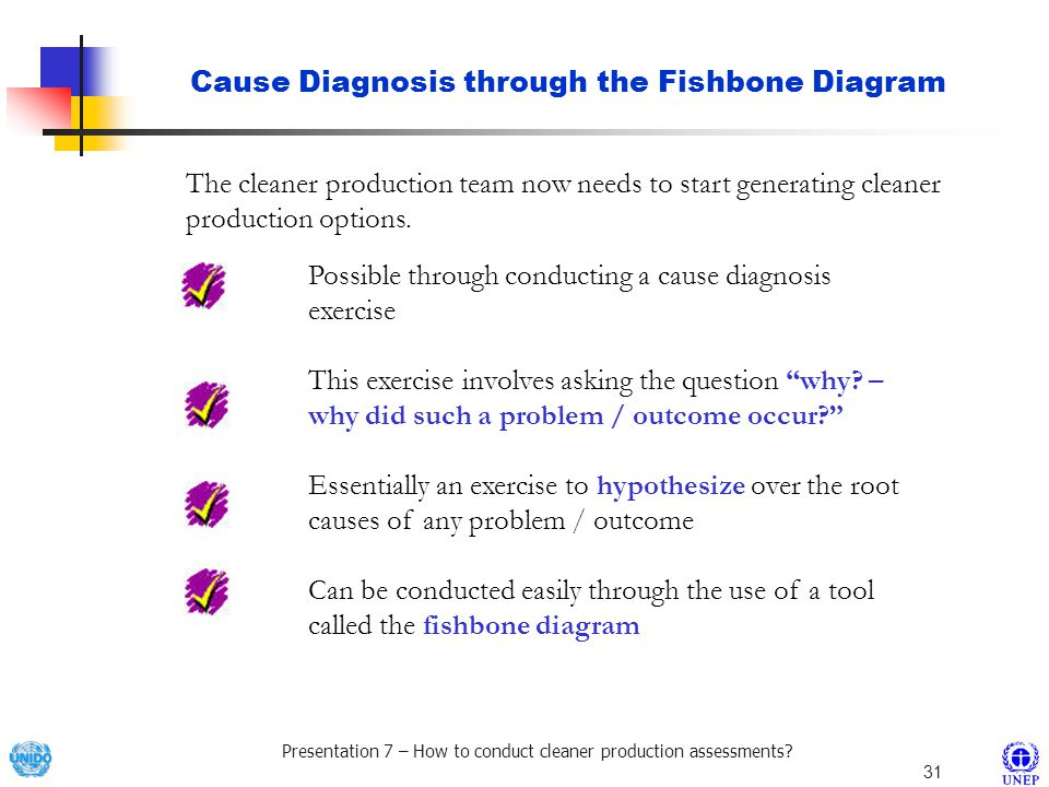 Cause Diagnosis through the Fishbone Diagram