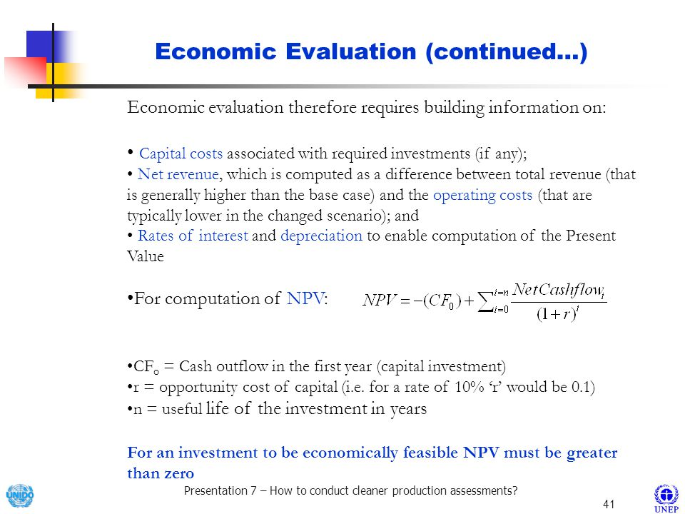 Economic Evaluation (continued…)