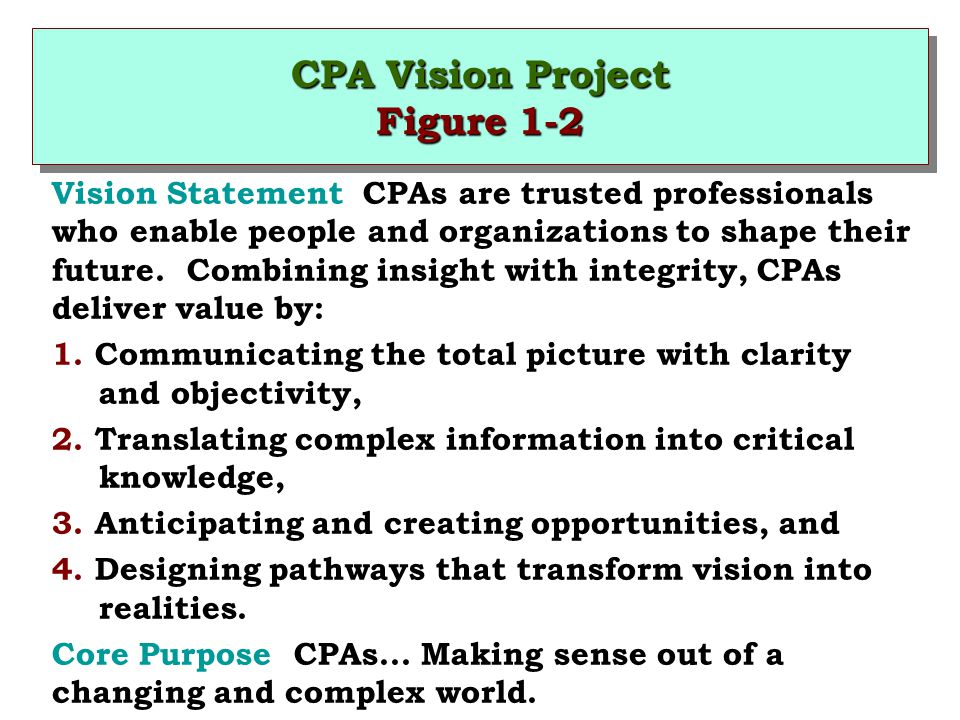 CPA Vision Project Figure 1-2