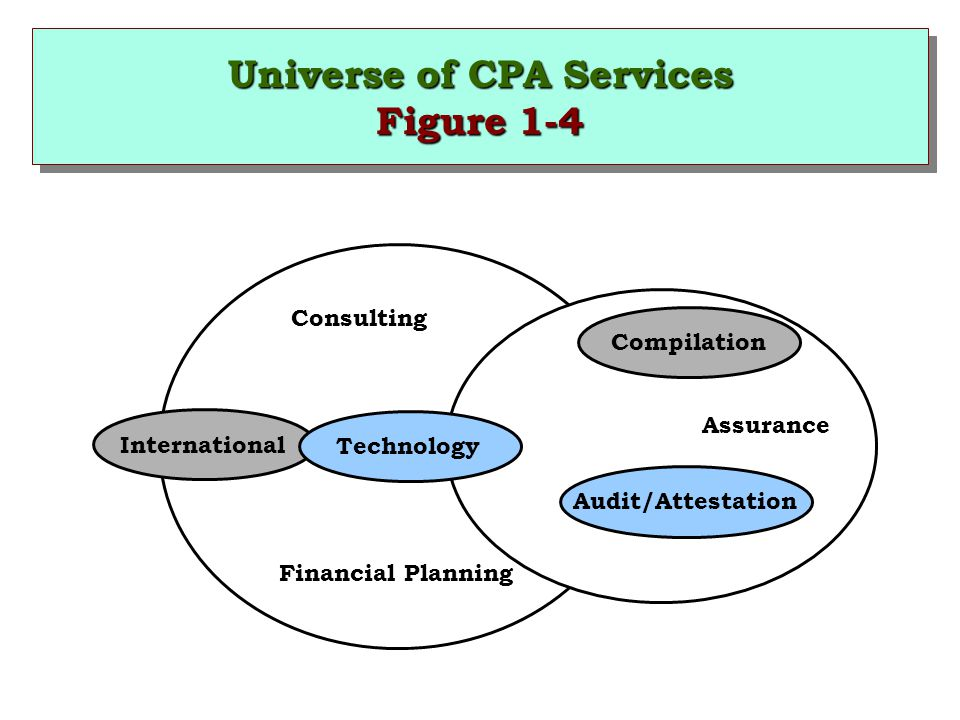 Universe of CPA Services Figure 1-4