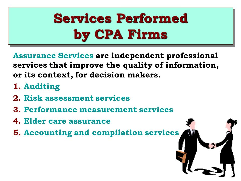 Services Performed by CPA Firms