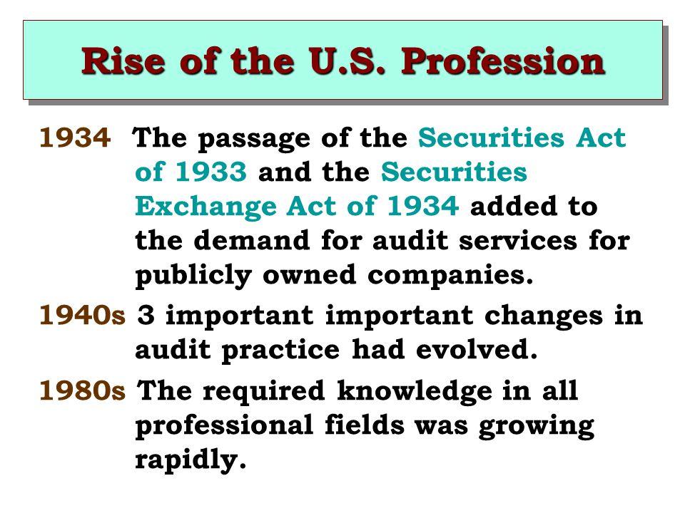 Rise of the U.S. Profession