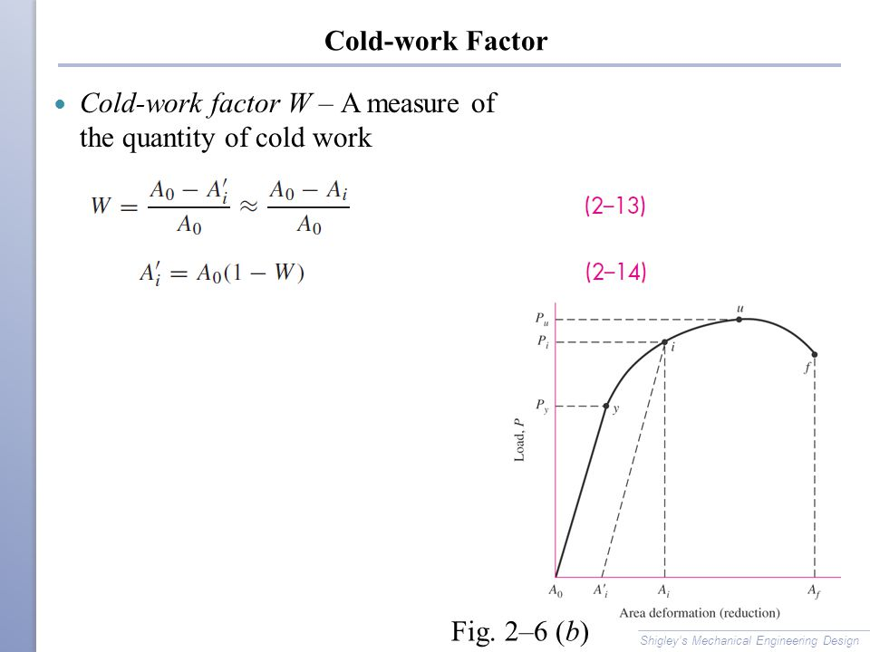 Cold-work factor W – A measure of the quantity of cold work