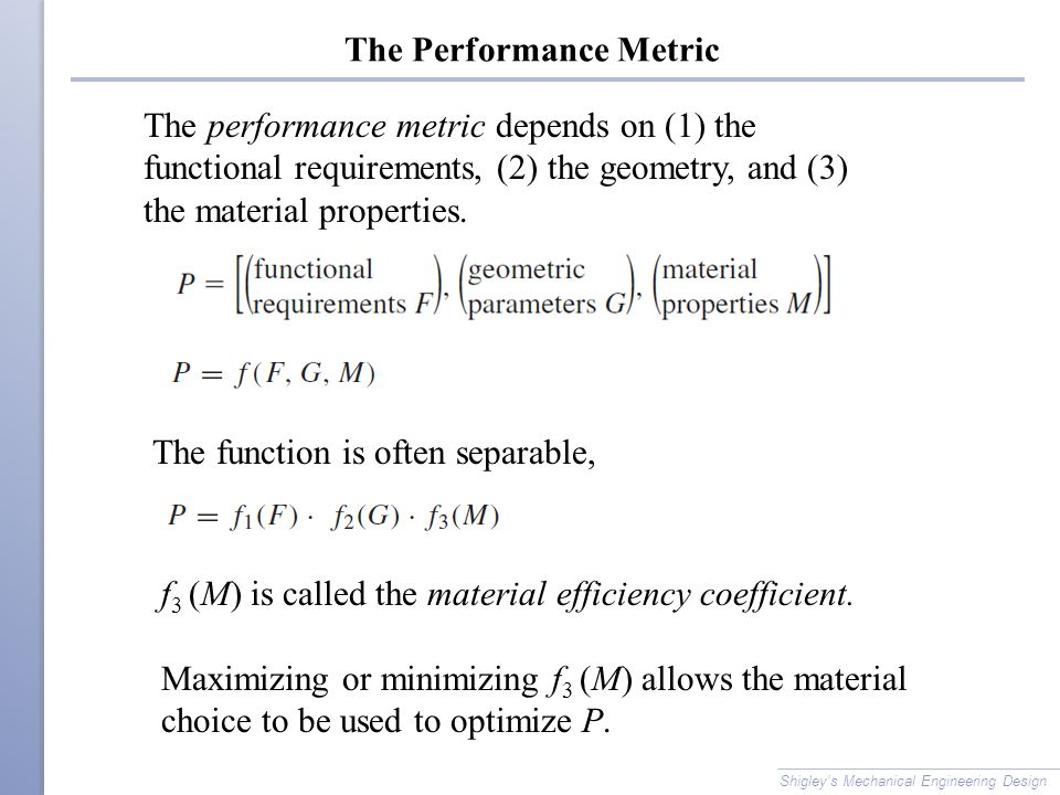 The Performance Metric