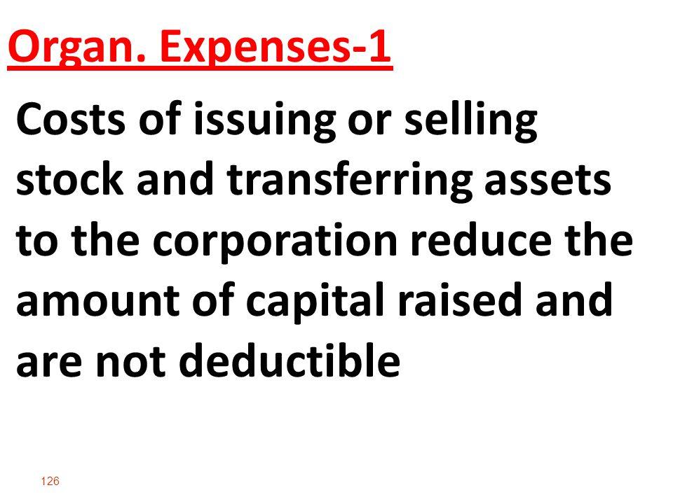 Organ. Expenses-1