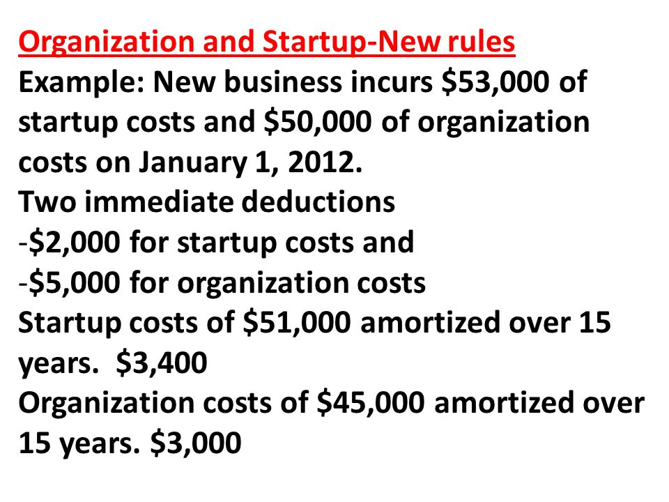 Organization and Startup-New rules