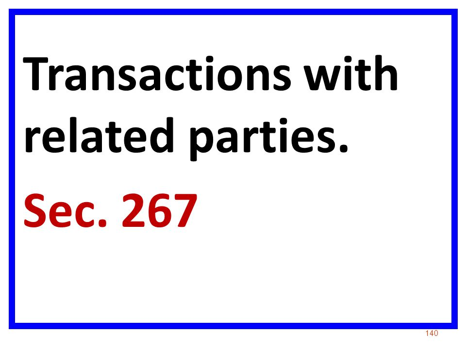Transactions with related parties.