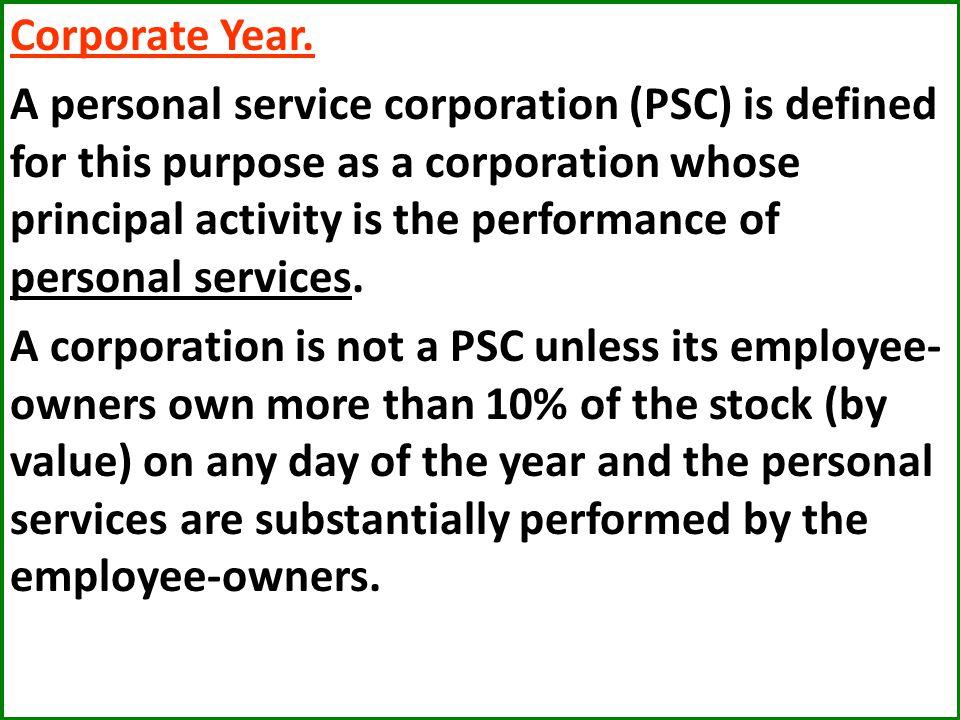 Corporate Year.