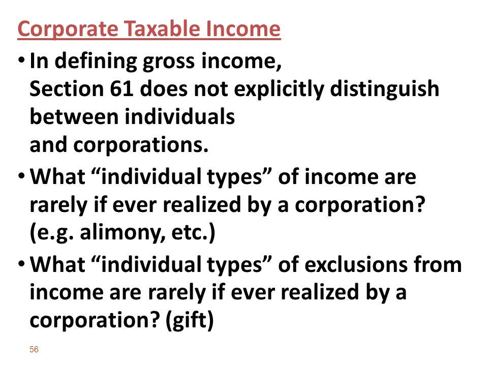 Corporate Taxable Income