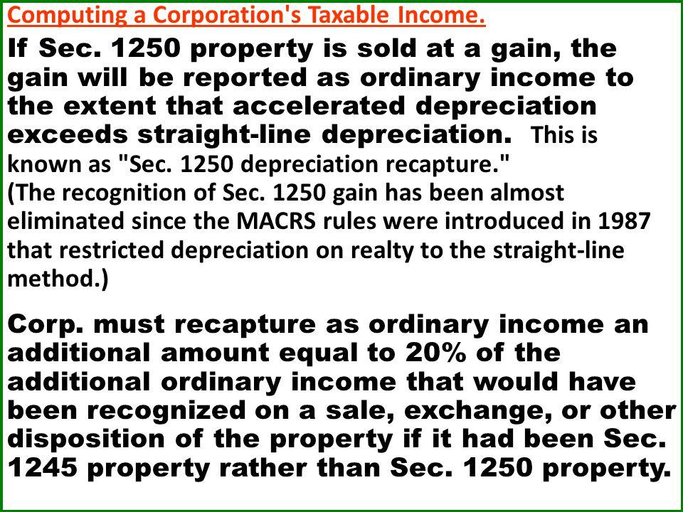 Computing a Corporation s Taxable Income.