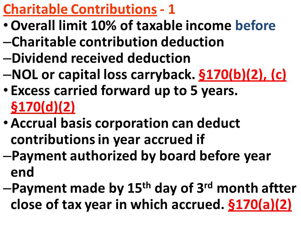 Charitable Contributions - 1