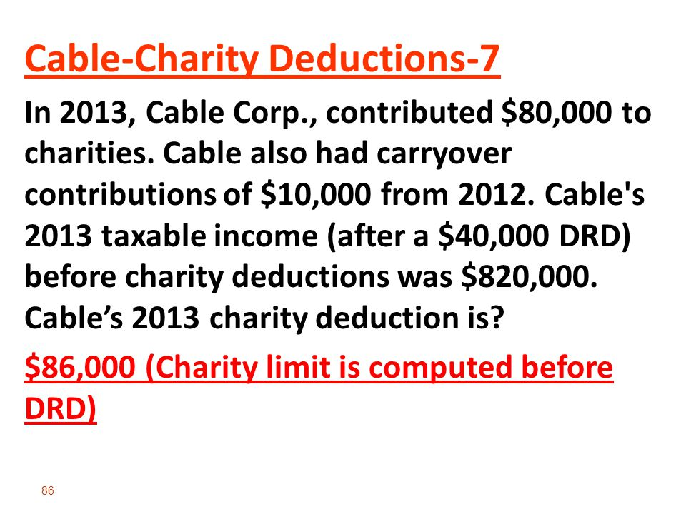 Cable-Charity Deductions-7