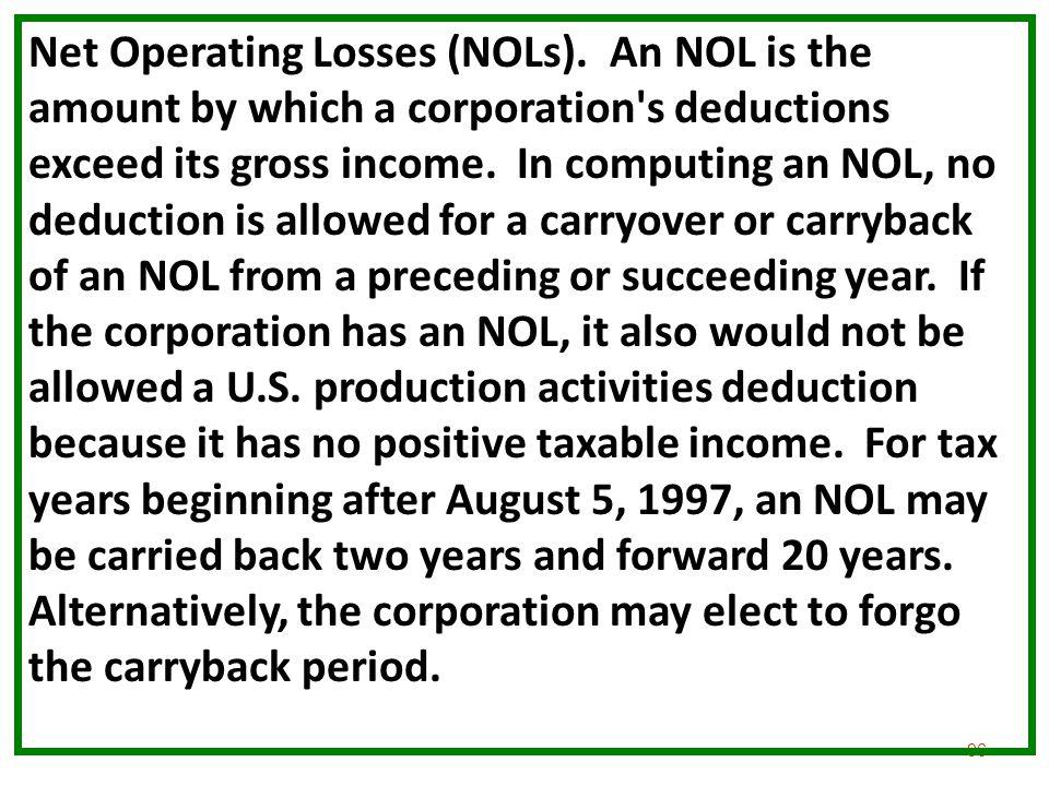 Net Operating Losses (NOLs)
