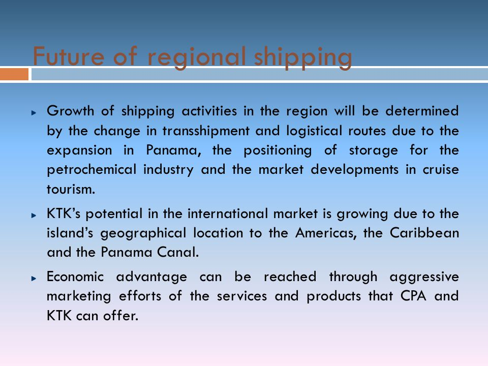 Future of regional shipping