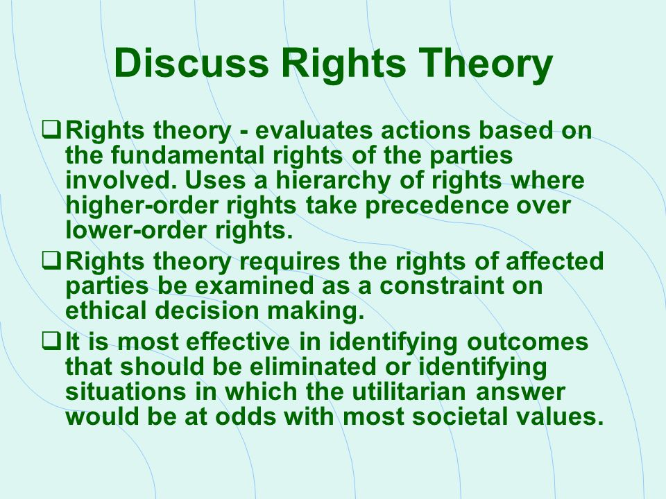 Discuss Rights Theory