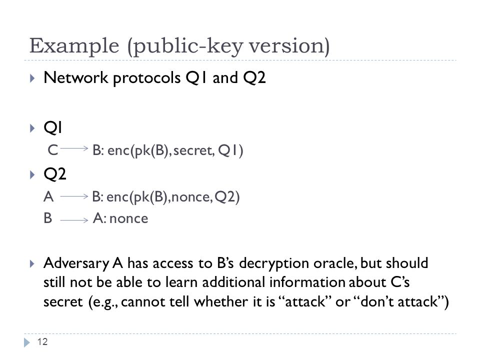Example (public-key version)
