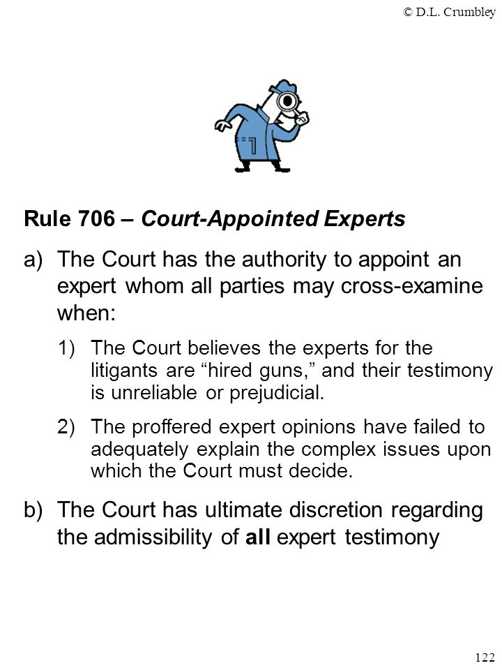 Rule 706 – Court-Appointed Experts
