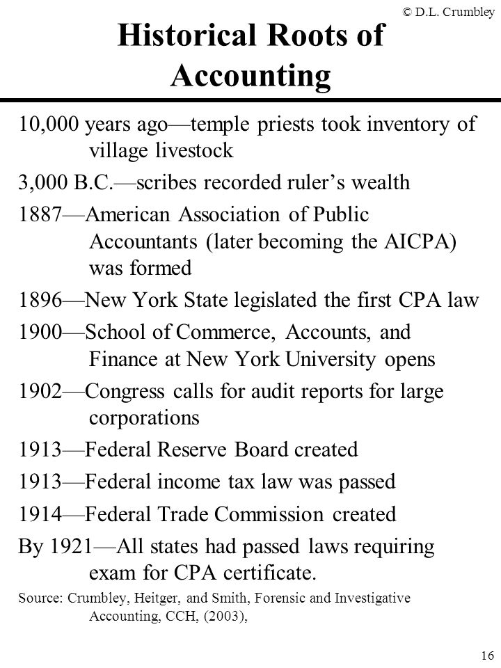 Historical Roots of Accounting