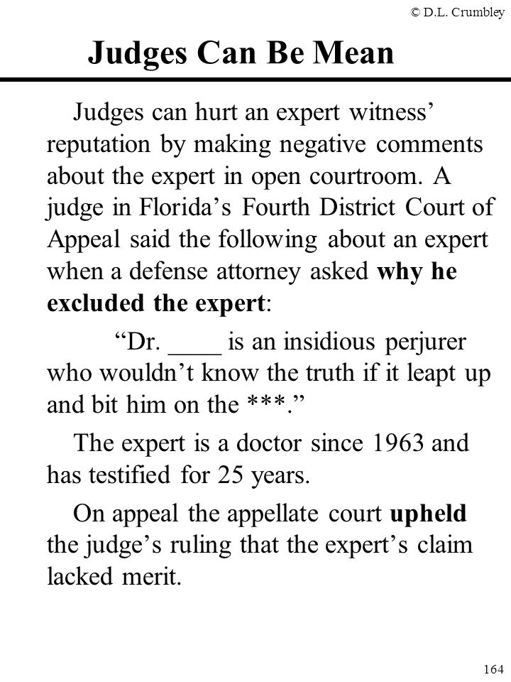 Judges Can Be Mean
