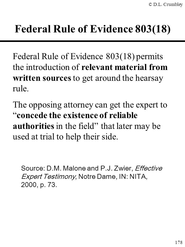 Federal Rule of Evidence 803(18)