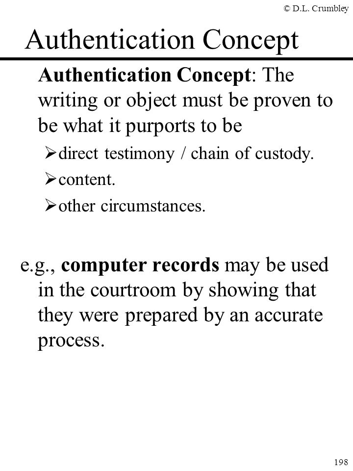 Authentication Concept