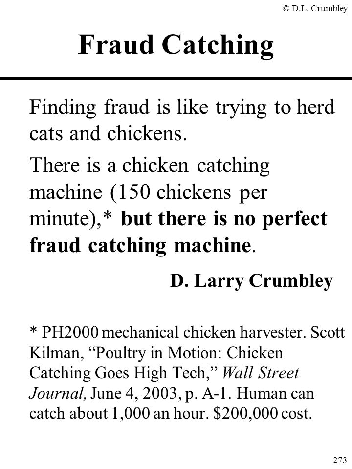 Fraud Catching D. Larry Crumbley