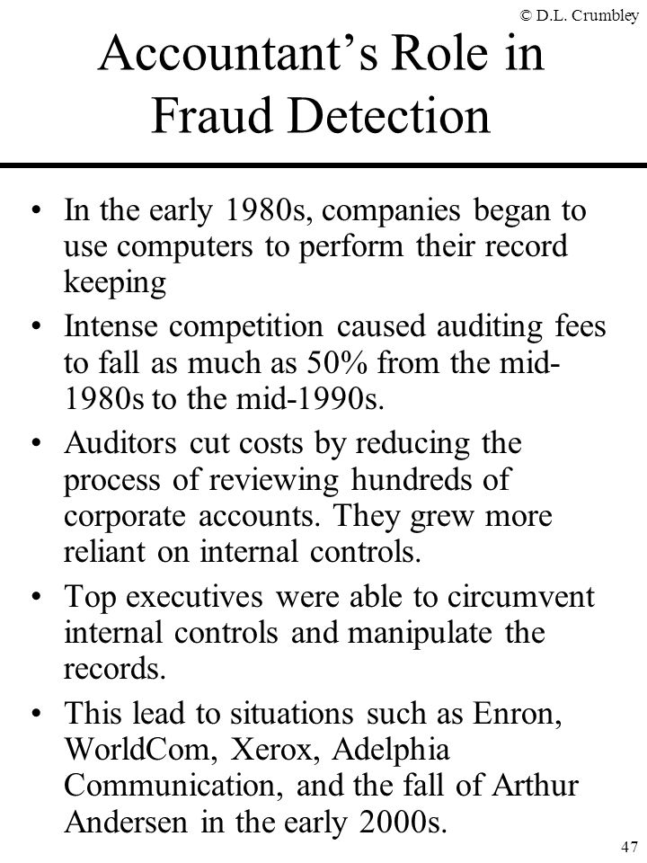 Accountant's Role in Fraud Detection