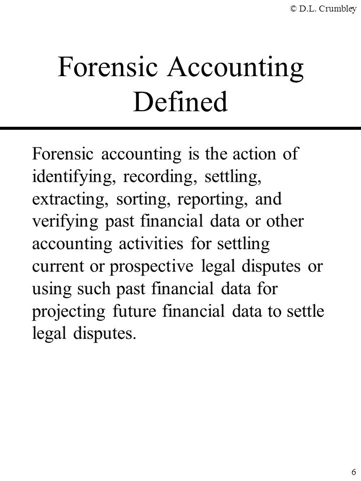 Forensic Accounting Defined