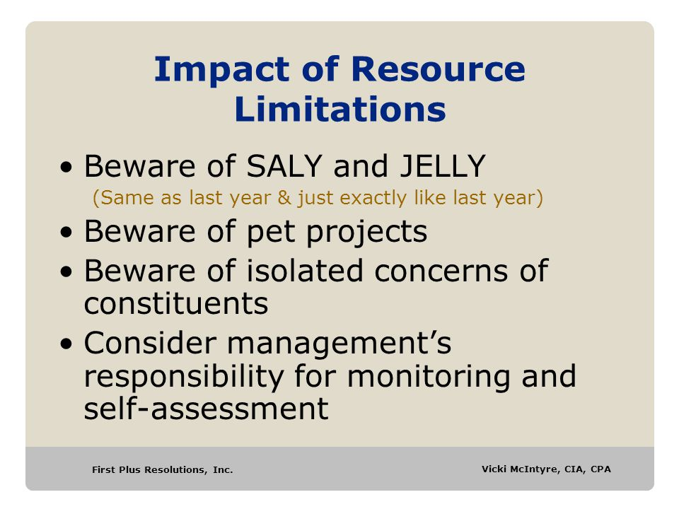 Impact of Resource Limitations