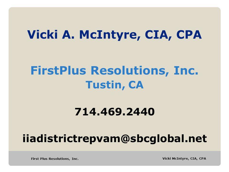 Vicki A. McIntyre, CIA, CPA