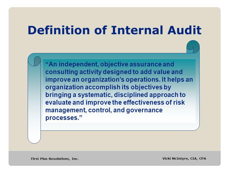 Definition of Internal Audit
