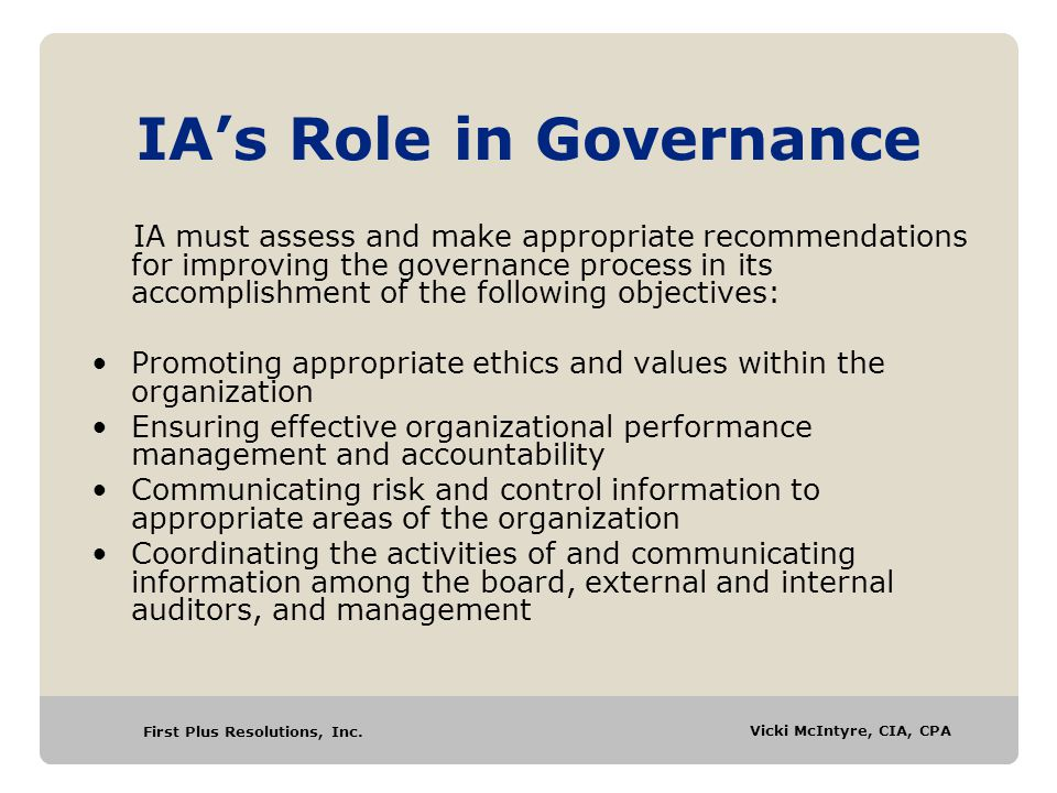 IA's Role in Governance