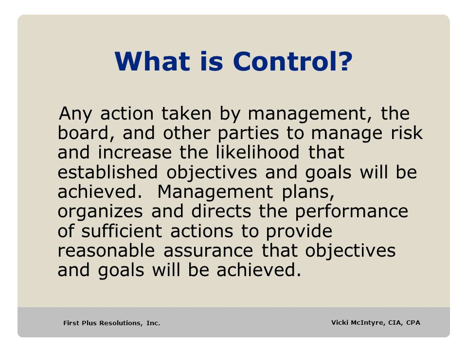 What is Control