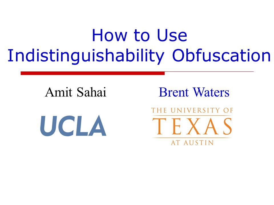 How to Use Indistinguishability Obfuscation