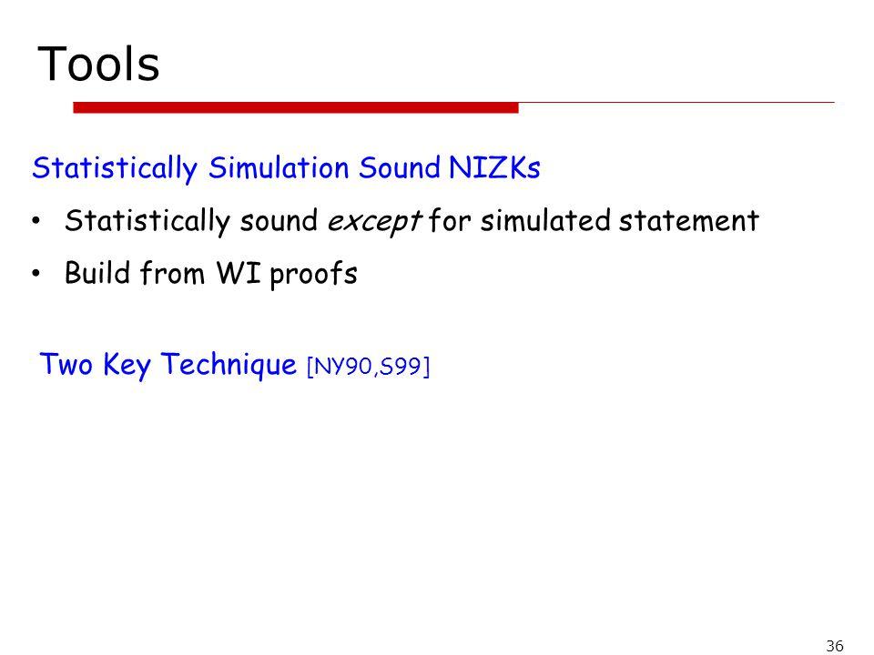 Tools Statistically Simulation Sound NIZKs