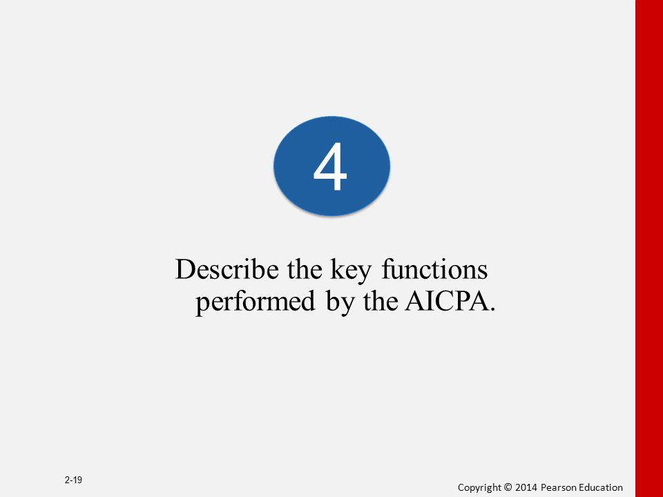 Describe the key functions performed by the AICPA.