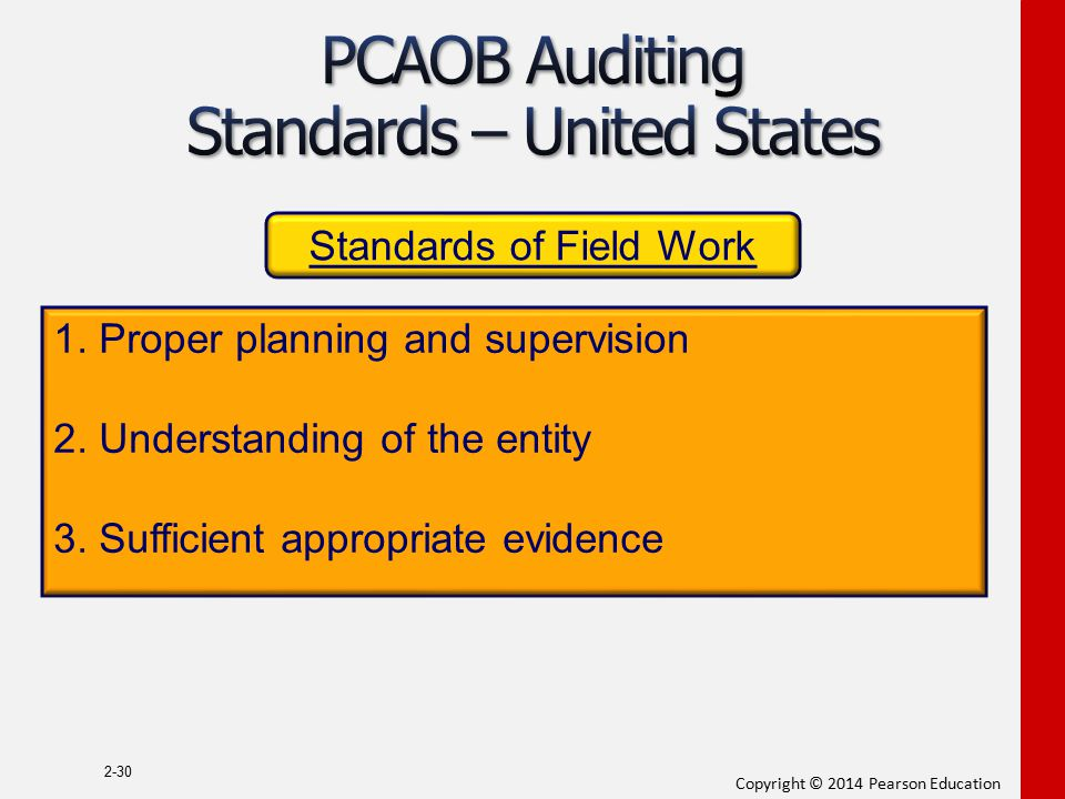 PCAOB Auditing Standards – United States