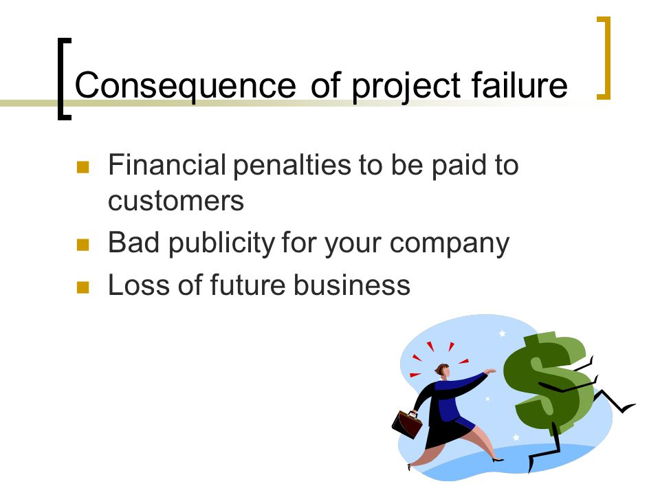 Consequence of project failure