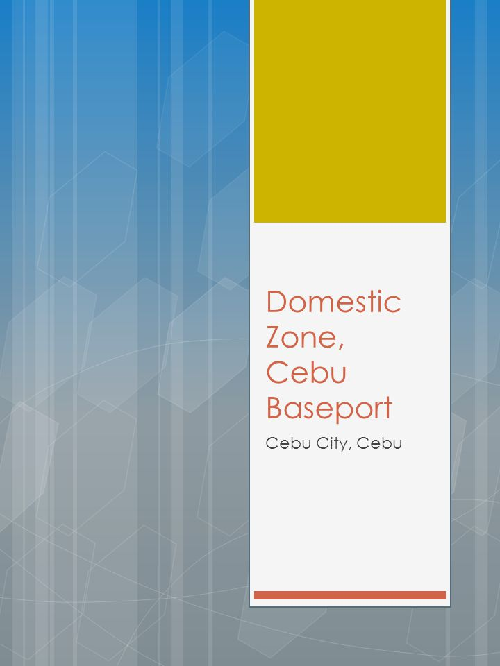 Domestic Zone, Cebu Baseport