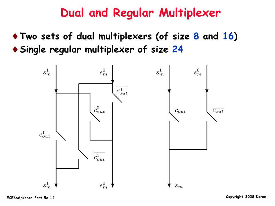 Dual and Regular Multiplexer