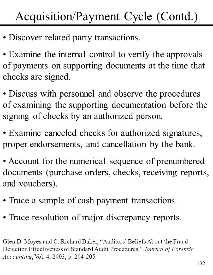 Acquisition/Payment Cycle (Contd.)