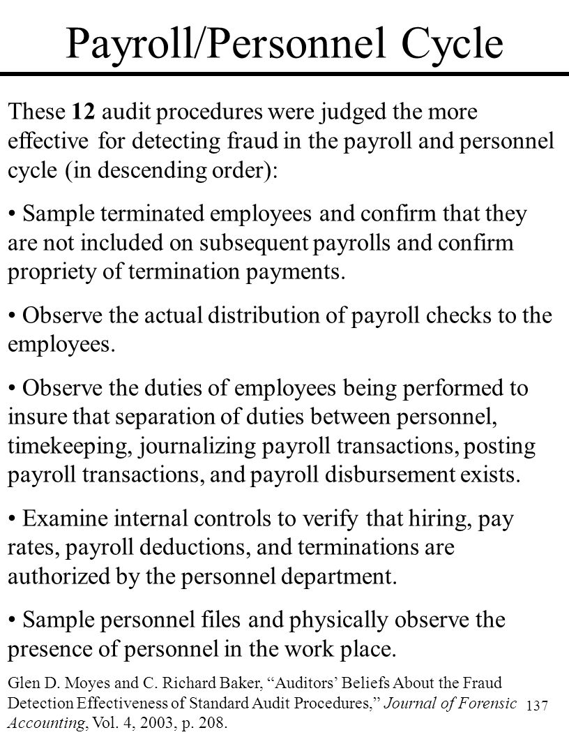 Payroll/Personnel Cycle