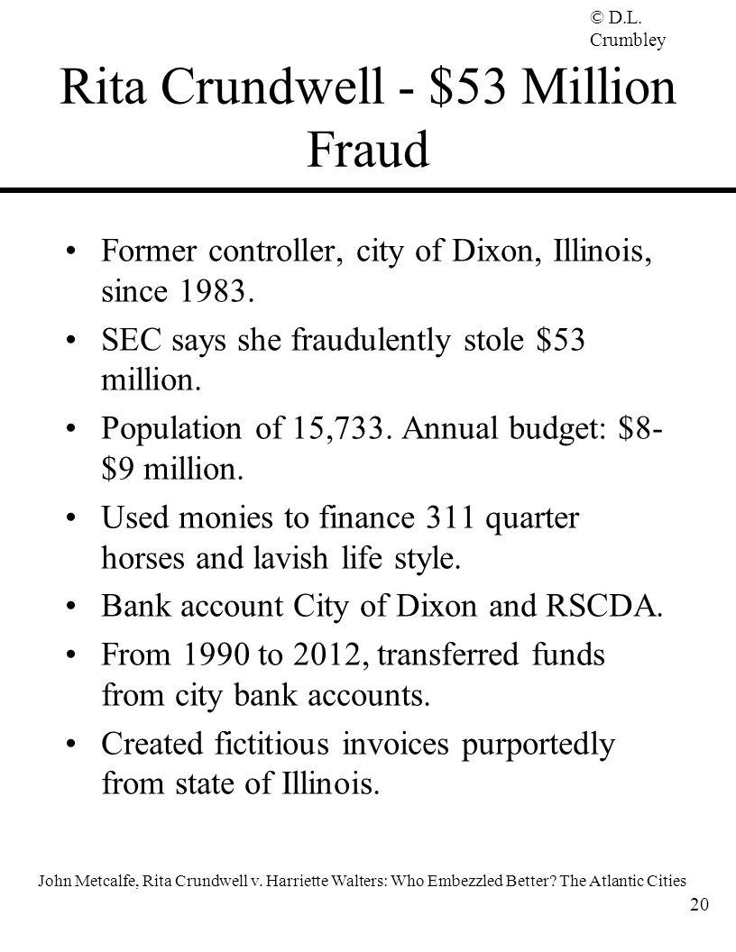 Rita Crundwell - $53 Million Fraud