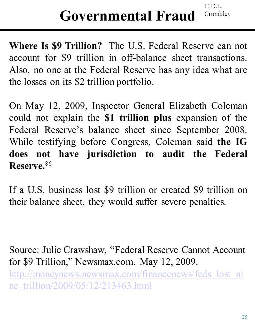 Governmental Fraud