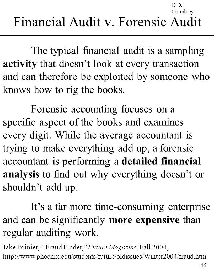 Financial Audit v. Forensic Audit