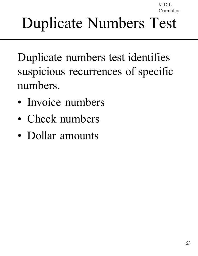 Duplicate Numbers Test