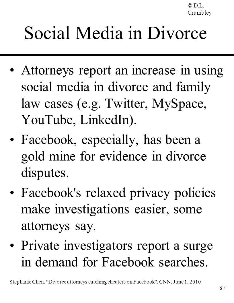 Social Media in Divorce