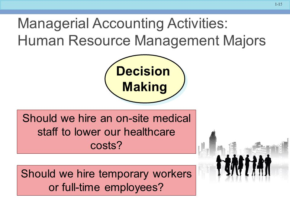Managerial Accounting Activities: Human Resource Management Majors